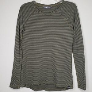 The North Face Striped Raglan Long Sleeve Top